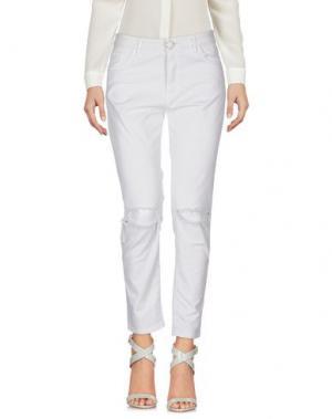 Повседневные брюки DIXIE. Цвет: светло-серый
