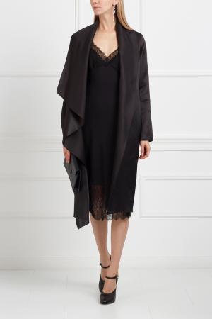 Шелковое пальто NATALIA GART. Цвет: черный