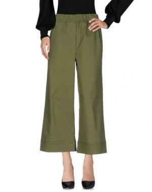 Повседневные брюки ODEEH. Цвет: зеленый-милитари