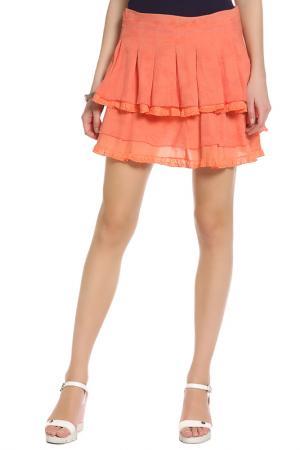 Юбка Parasuco Cult. Цвет: оранжевый, 4-х слойная