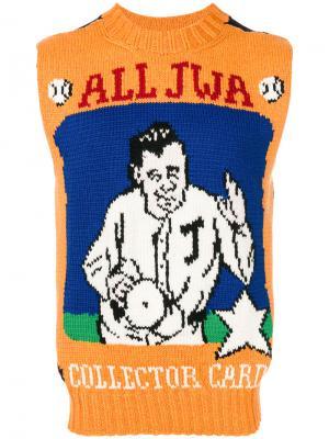 Свитер-топ All Jwa JW Anderson. Цвет: жёлтый и оранжевый