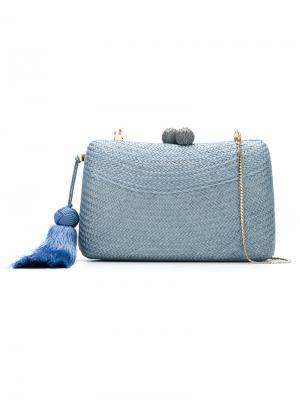 Straw clutch Serpui. Цвет: синий
