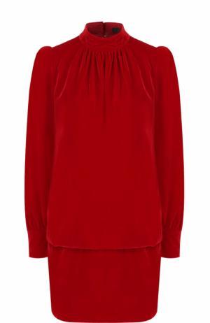 Платье с рукавом-фонарик и воротником-стойкой Marc Jacobs. Цвет: красный