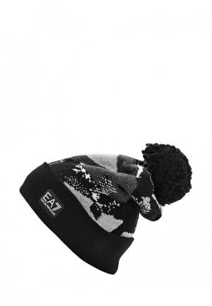 Шапка EA7. Цвет: черный