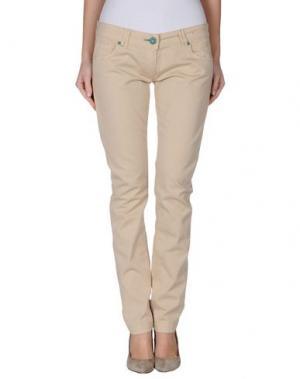 Повседневные брюки ONE SEVEN TWO. Цвет: песочный