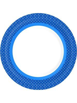 Тарелки бумажные 22 см BBQ BLUE LINE DUNI. Цвет: голубой