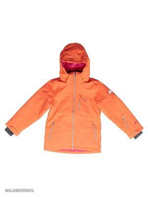 Куртки Tenson. Цвет: коралловый