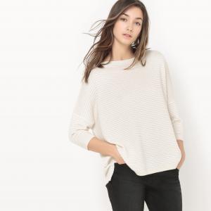 Пуловер объемного покроя Pauline SUNCOO. Цвет: экрю