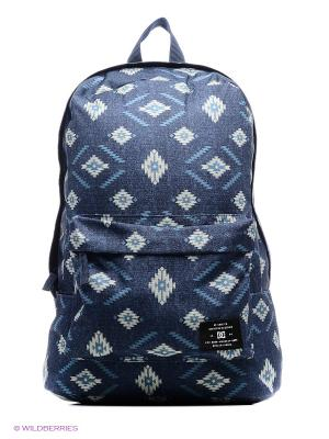 Рюкзак DC Shoes. Цвет: белый, темно-синий