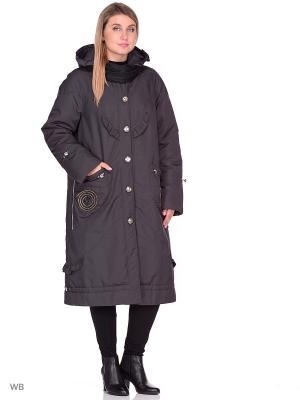 Пальто Джес VIKO. Цвет: темно-серый