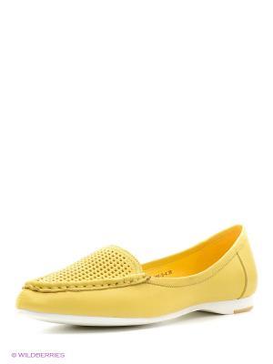 Мокасины BASCONI. Цвет: желтый