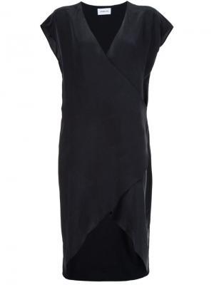 Платье с запахом Karsen Sam & Lavi. Цвет: чёрный