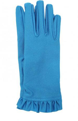 Перчатки с оборками Balenciaga. Цвет: синий