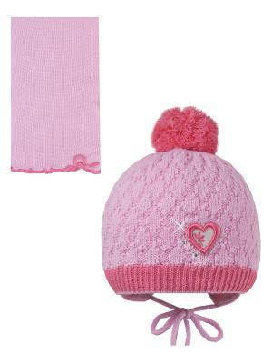 Шапка, шарф Pro-han. Цвет: розовый, малиновый