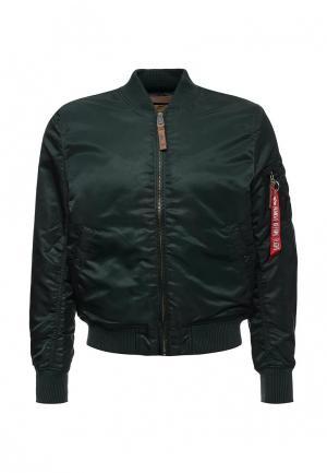 Куртка Alpha Industries. Цвет: зеленый