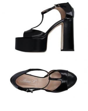 Сандалии ANNA F.. Цвет: черный