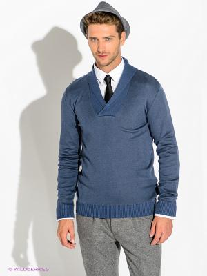 Пуловер GUESS. Цвет: синий, серый