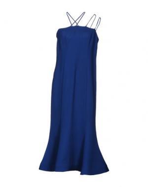 Платье длиной 3/4 VIKA GAZINSKAYA. Цвет: синий
