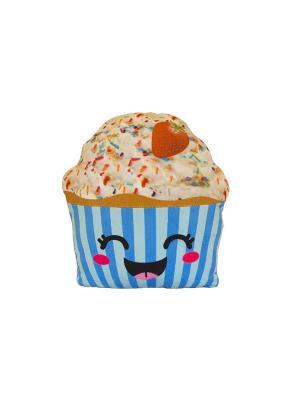 Капкейк-счастливый Button Blue. Цвет: голубой, бежевый