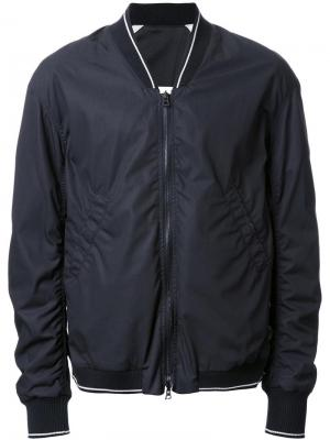Куртка-бомбер с контрастной отделкой monkey time. Цвет: чёрный