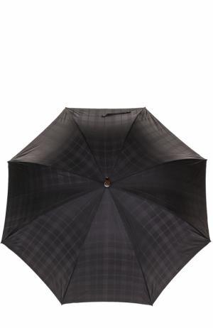 Зонт-трость Ermenegildo Zegna. Цвет: черный