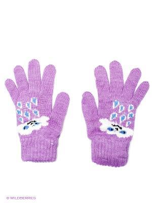 Перчатки R&I. Цвет: сиреневый