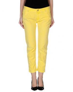 Повседневные брюки REIKO. Цвет: желтый