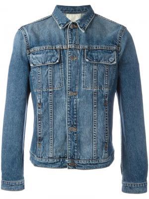 Джинсовая куртка с карманами клапанами Helmut Lang. Цвет: синий