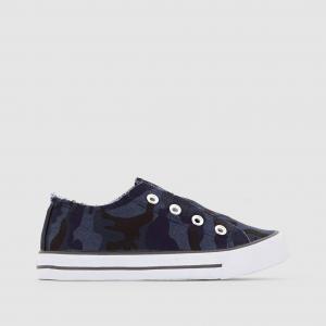 Кеды низкие с камуфляжным принтом abcd'R. Цвет: синий + черный + серый
