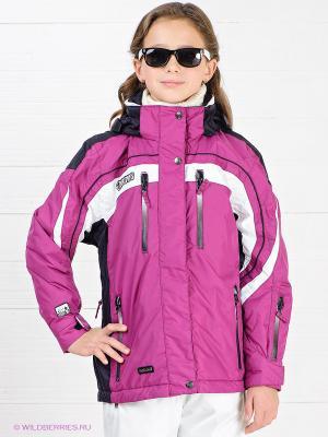 Куртка IGUANA. Цвет: белый, фиолетовый