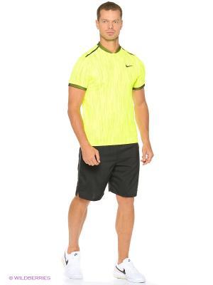 Футболка M NK DRY ADV POLO SS PREMIER Nike. Цвет: желтый