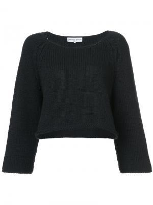 Укороченный свитер свободного кроя Apiece Apart. Цвет: чёрный