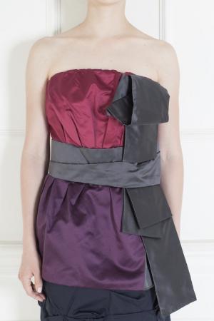 Шелковый топ Marc Jacobs. Цвет: красный, бургунди, черный