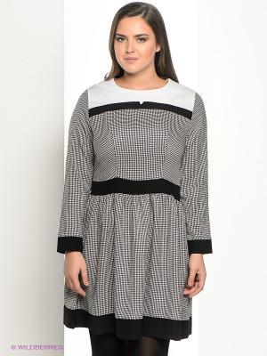 Платье La Via Estelar. Цвет: черный, белый