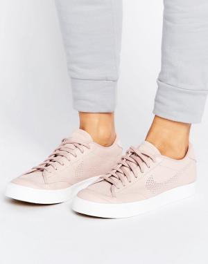 Nike Кроссовки премиум-класса с перфорированной галочкой All Court. Цвет: розовый