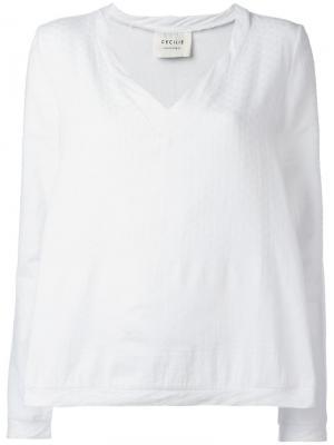 Блузка с V-образным вырезом Cecilie Copenhagen. Цвет: белый