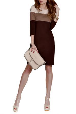 Платье FRANCESCA LUCINI. Цвет: коричневый, мокко, бежевый