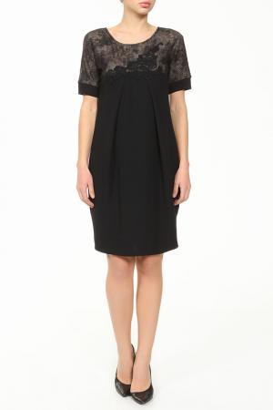 Платье XS MILANO. Цвет: черный, коричневый