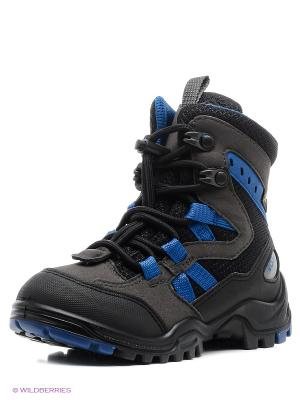 Ботинки ECCO. Цвет: синий, черный, серый