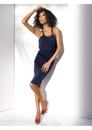 Моделирующее платье Class International. Цвет: темно-синий