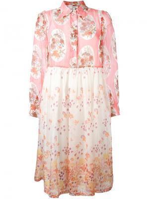 Кружевное платье Manoush. Цвет: белый