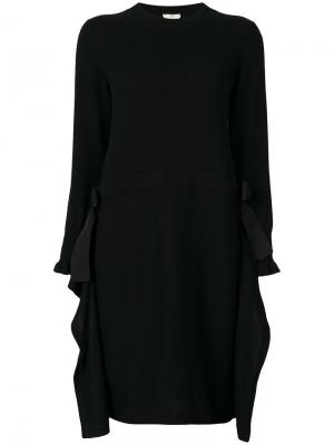 Платье с длинными рукавами Fendi. Цвет: чёрный