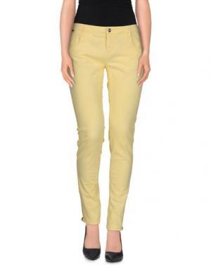 Повседневные брюки REIKO. Цвет: светло-желтый