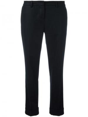 Укороченные брюки Boglioli. Цвет: чёрный