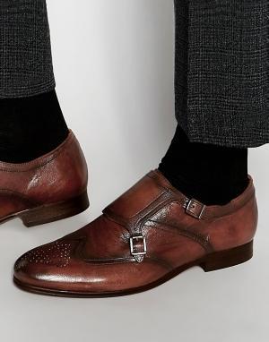 Hudson London Кожаные монки Castleton. Цвет: коричневый