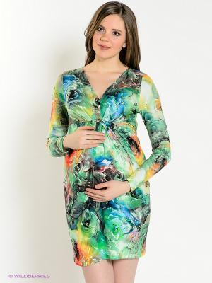 Платье UNIOSTAR. Цвет: зеленый
