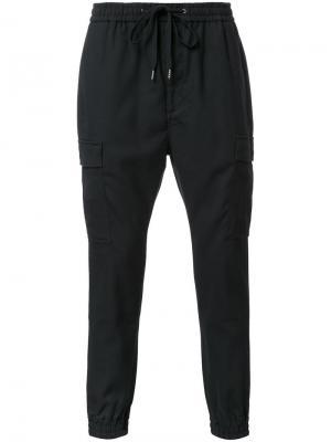 Спортивные штаны на завязках monkey time. Цвет: чёрный