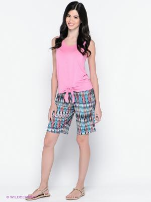 Комплект одежды PENYE MOOD. Цвет: голубой, бежевый, розовый