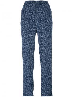Прямые брюки с узором Woolrich. Цвет: синий