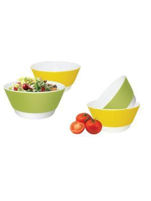 Набор стильных салатников 700мл. BS 02101 Barton Steel. Цвет: зеленый, желтый